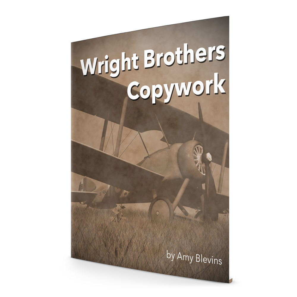 Wright Brothers Copywork for your Homeschool - Wilbur and Orville Wright quotes